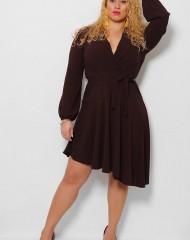 Asümmeetriline pruun lendlev kleit (S/M)