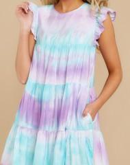 Pastelsete värvidega kleidike suveks (L)