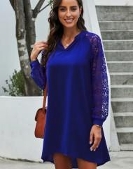 Asümmeetriline kleit crochet-varrukatega (UNI)