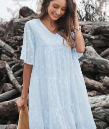 Helesinine alusvoodriga babydoll stiilis kleit (M)