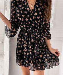 Südamekestega õhuline voodriga kleit (S ja M)