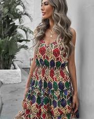 Erksavärviline alusvoodriga kleit (L/XL)