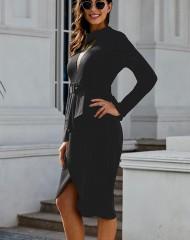 Väga efektne must kleit-vööga (S/M)