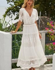 Imeilus pitsist pealiskangaga valge kleit (S)